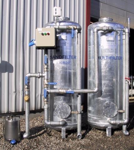 filteranlæg til fjernelse af tungmetaller. er leveret til skibsværfter